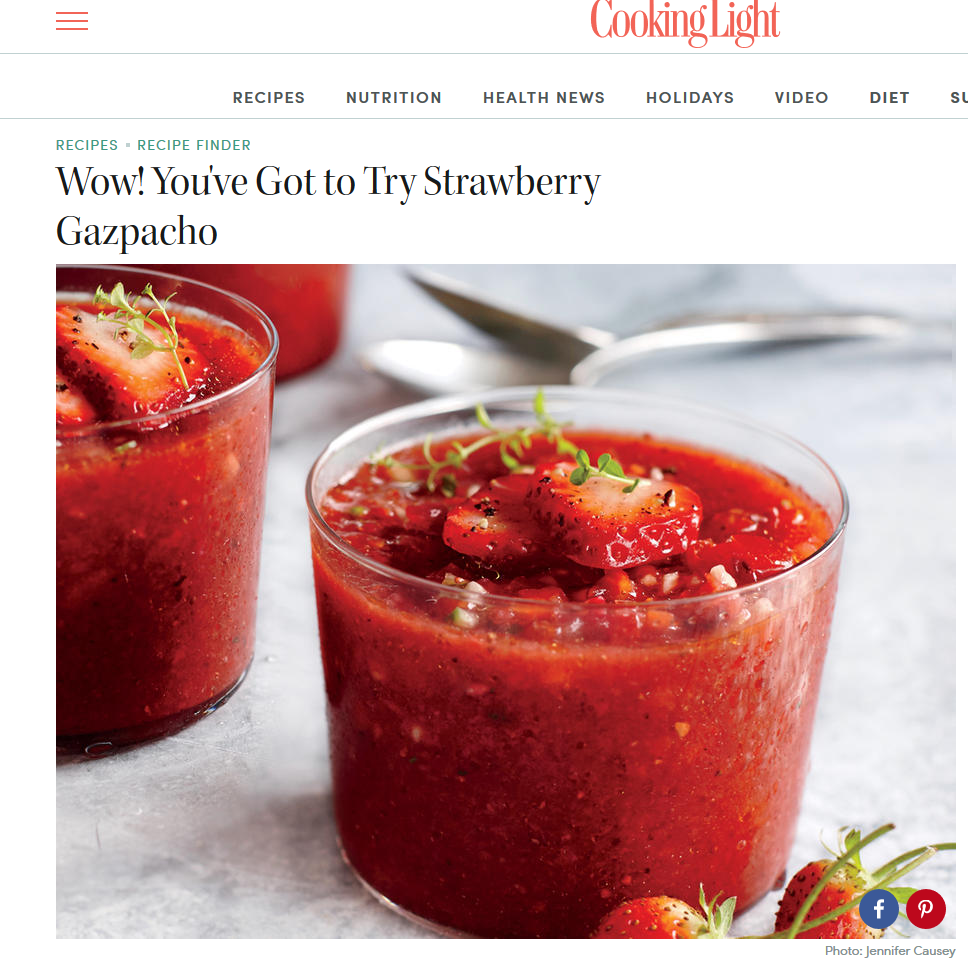 cooking light strawberry gazpacho