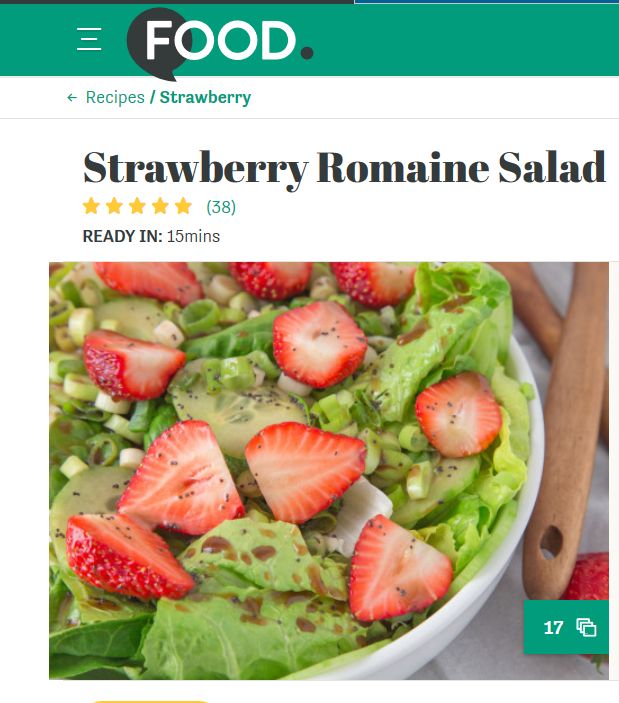 food com strawberry romaine salad