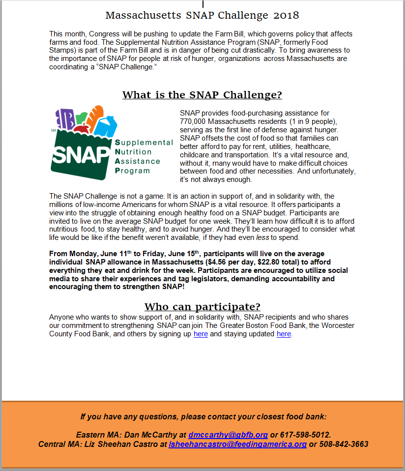SNAP Challenge one pager
