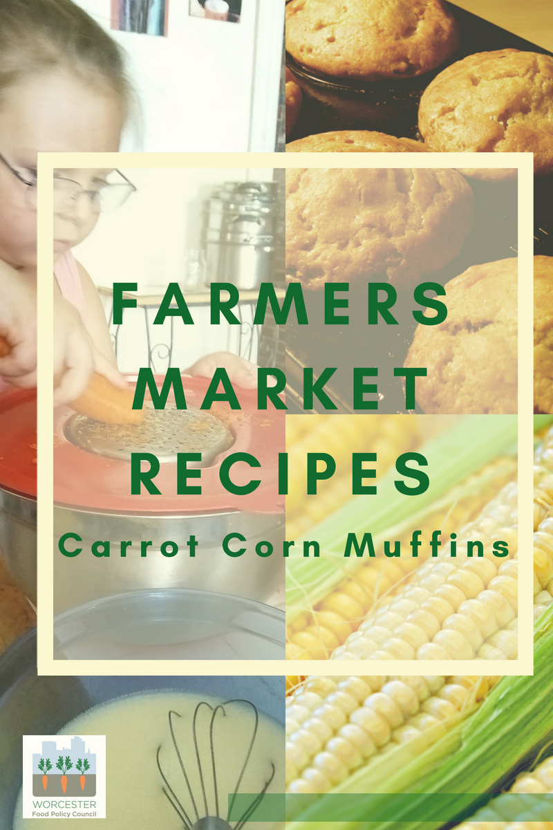farmers market recipes – carrot corn muffins